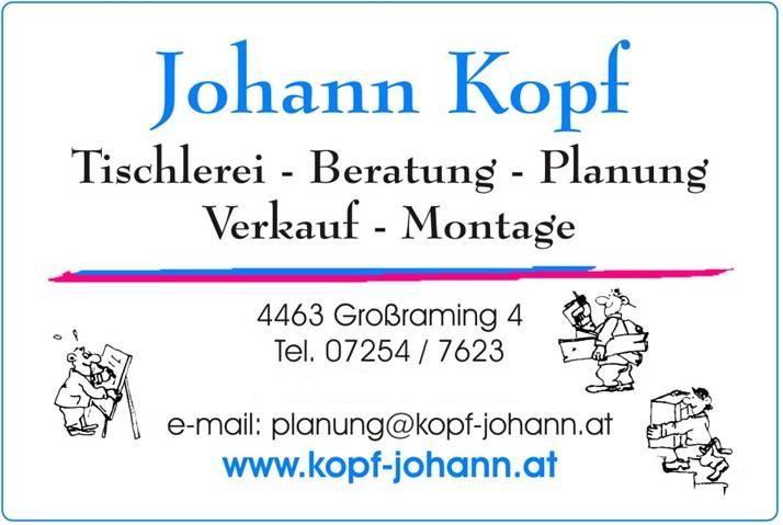 Tischlerei-Planung Kopf Johann