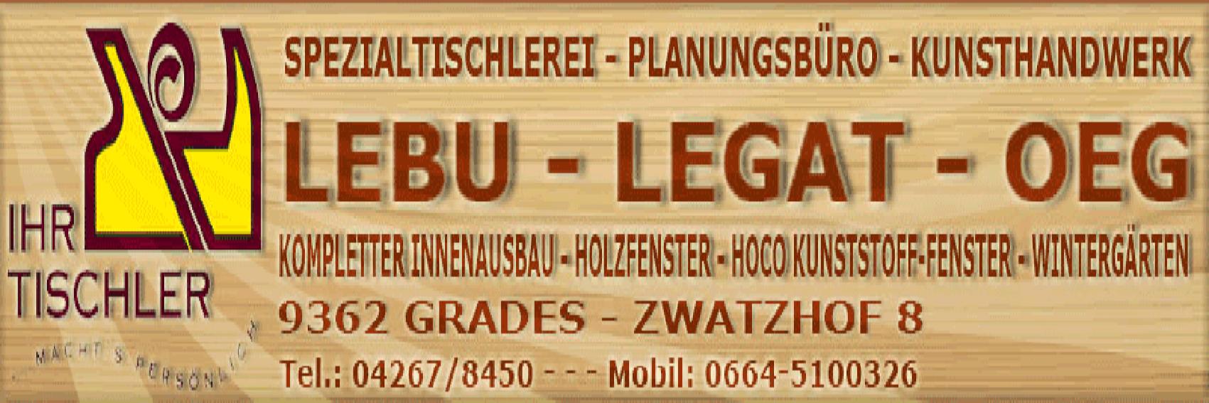 Tischlerei LEBU - Legat OEG