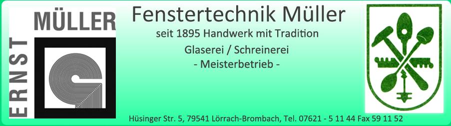 Fensterbau Müller Ernst<br />Inh. Andreas Müller